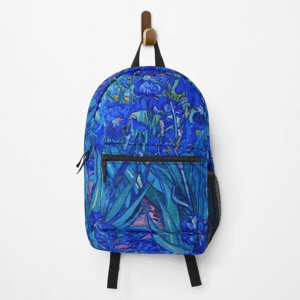 Van Gogh Irises in Indigo Backpack