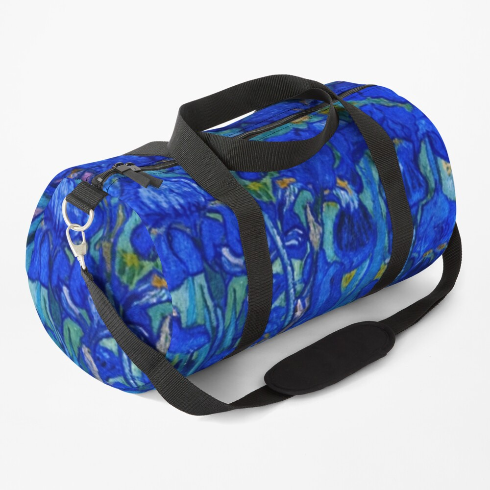 Van Gogh Irises in Indigo Duffle Bag