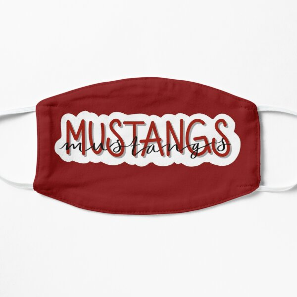 Mustangs on Red Mask
