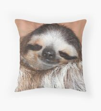 Buttercup the Sloth Throw Pillow