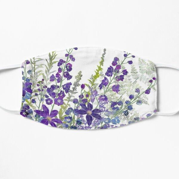 Purple Clematis & Delphiniums Flat Mask
