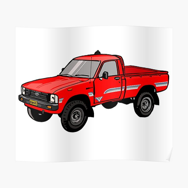 Toyota Hylux Hilux Pick Up Truck Poster