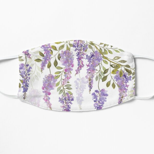 Wisteria Blossoms Flat Mask