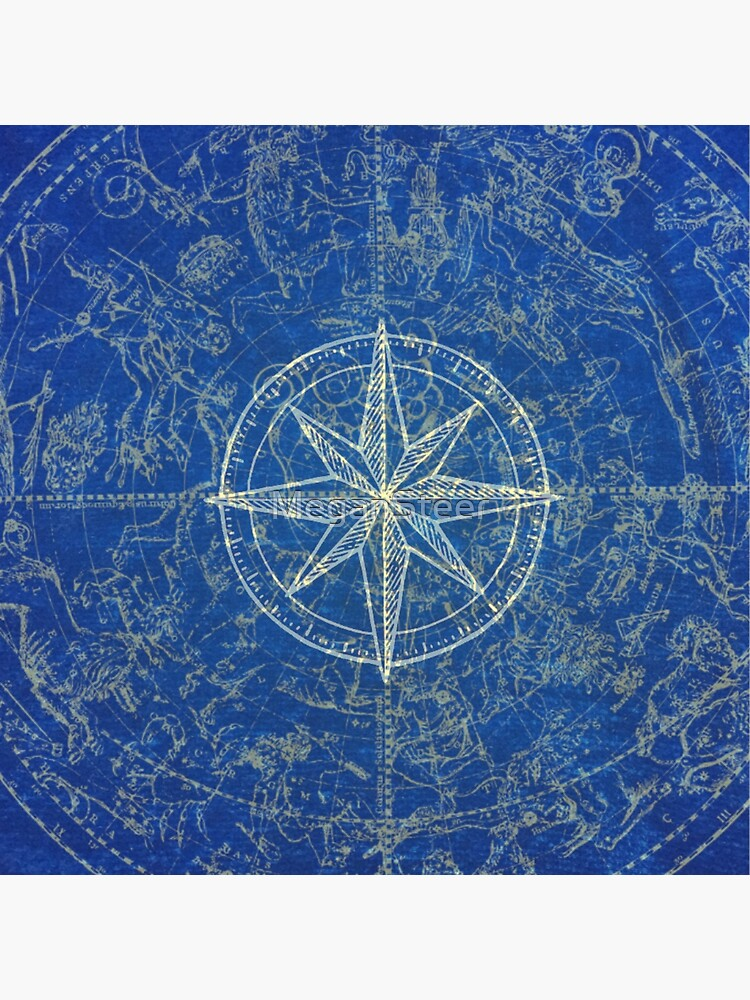 Map of the Heavens in Blue by MeganSteer