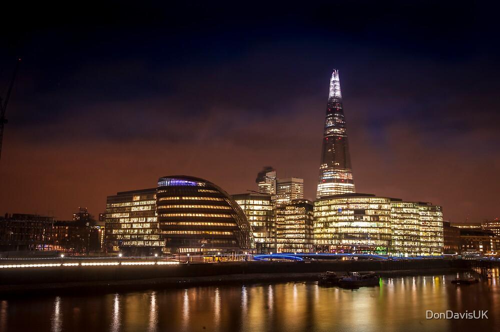 The Shard at night, London. by DonDavisUK