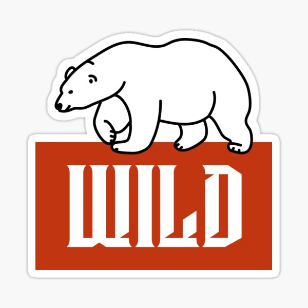 Wild: Small Polo Bear Sticker