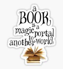 Book is a magic portal Sticker