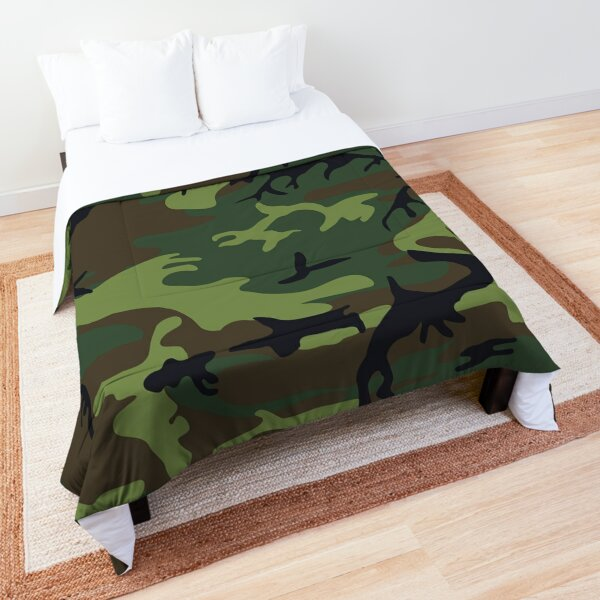 Green Camoflage Texture Pattern Comforter