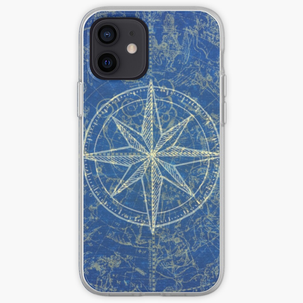 Map of the Heavens in Blue iPhone Case & Cover
