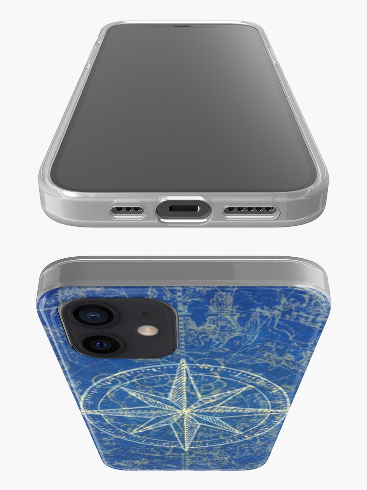 Alternate view of Map of the Heavens in Blue iPhone Case & Cover