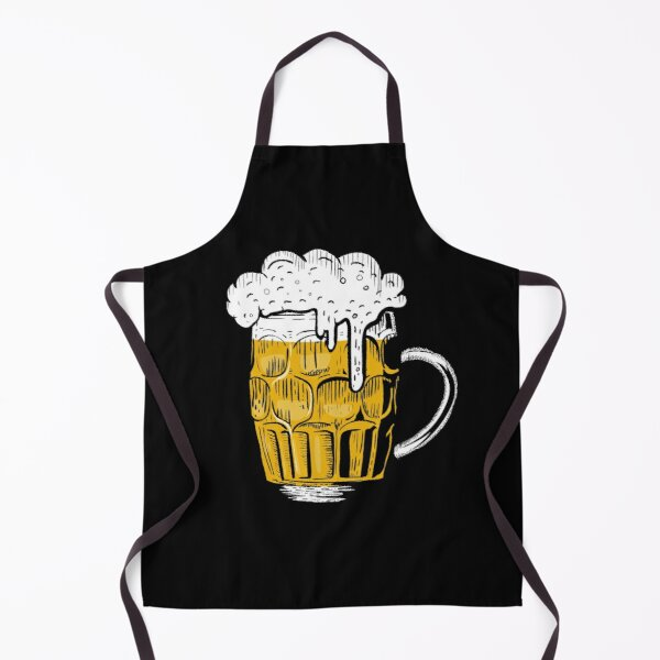 Food pattern,funny beer lover gift idea Apron