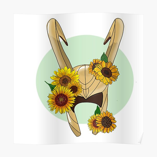 God of Mischief With Sunflowers Poster
