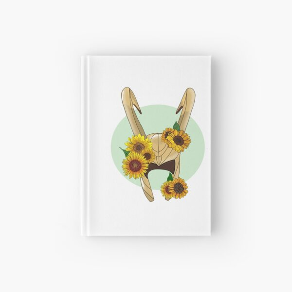 God of Mischief With Sunflowers Hardcover Journal