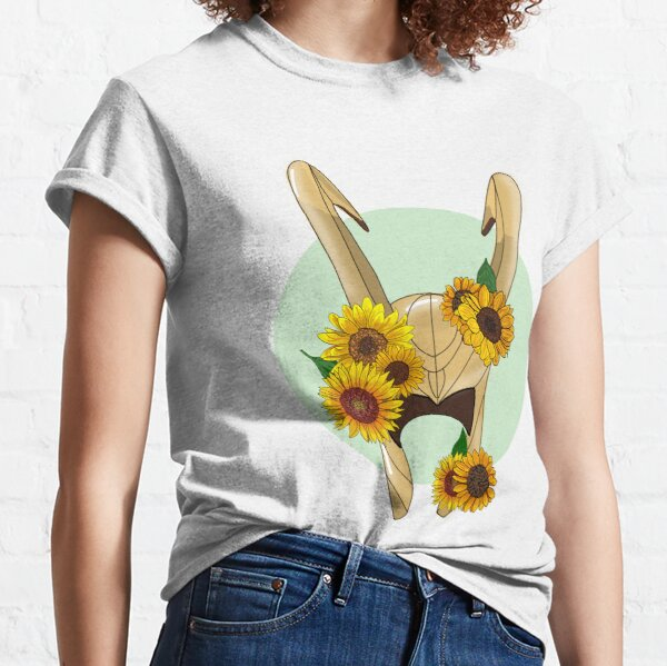 God of Mischief With Sunflowers Classic T-Shirt