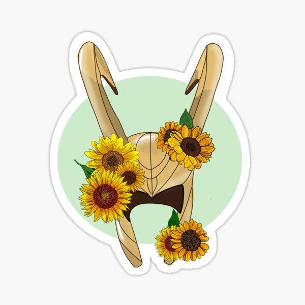 God of Mischief With Sunflowers Sticker