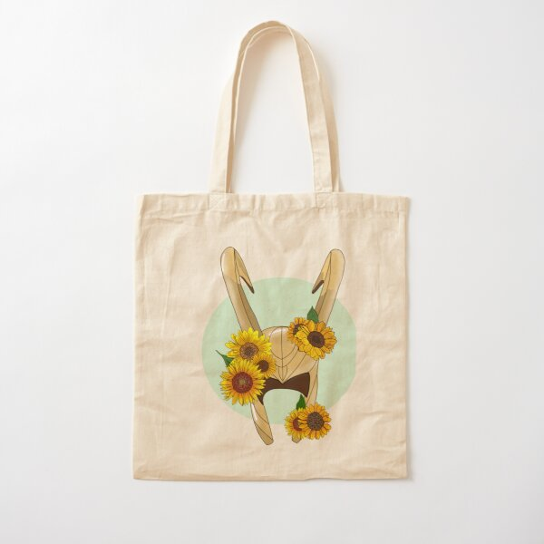 God of Mischief With Sunflowers Cotton Tote Bag