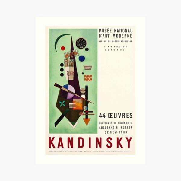 Kandinsky Exhibition poster 1957 Art Print
