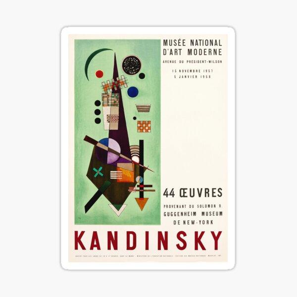 Kandinsky Exhibition poster 1957 Sticker