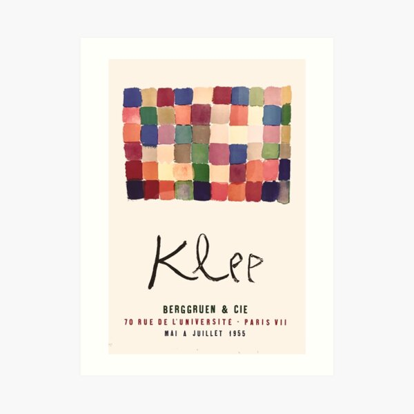 Paul Klee - Exhibition poster 1955 Art Print