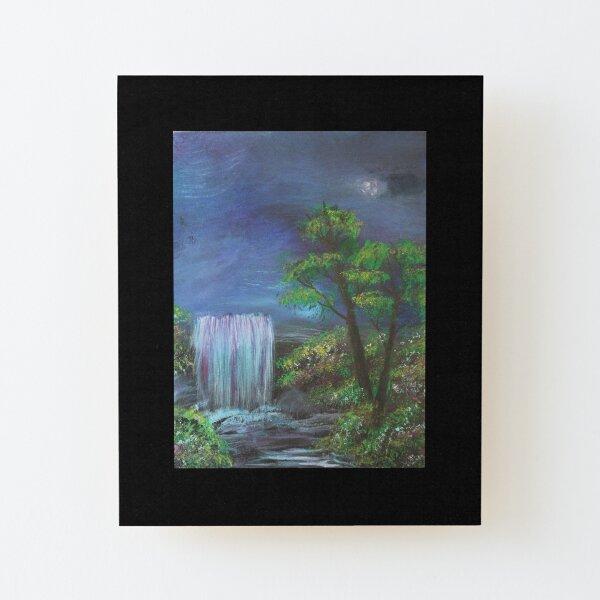Fantasy Falls Painting Wood Mounted Print