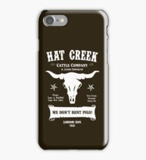 Hat Creek Cattle Company - Lonesome Dove iPhone Case/Skin