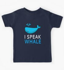 I Speak Whale Kids Tee