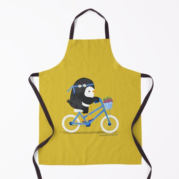 Penguin on a Bike Apron