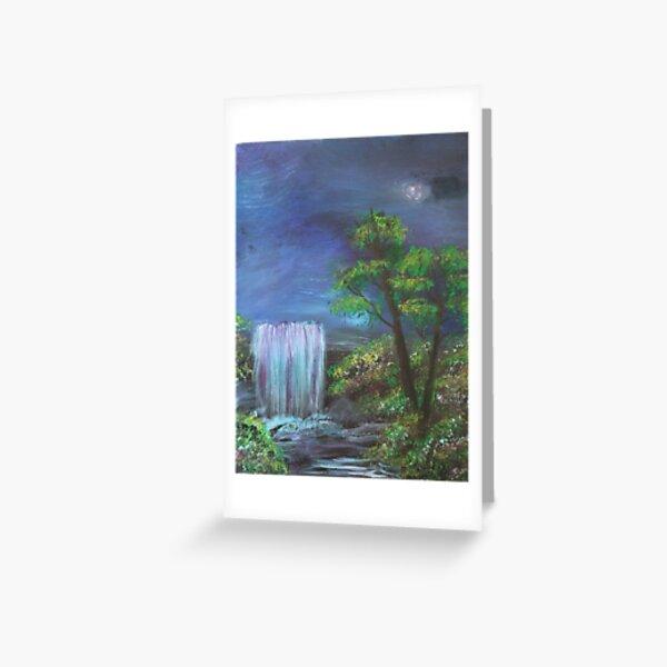 Fantasy Falls Painting Greeting Card