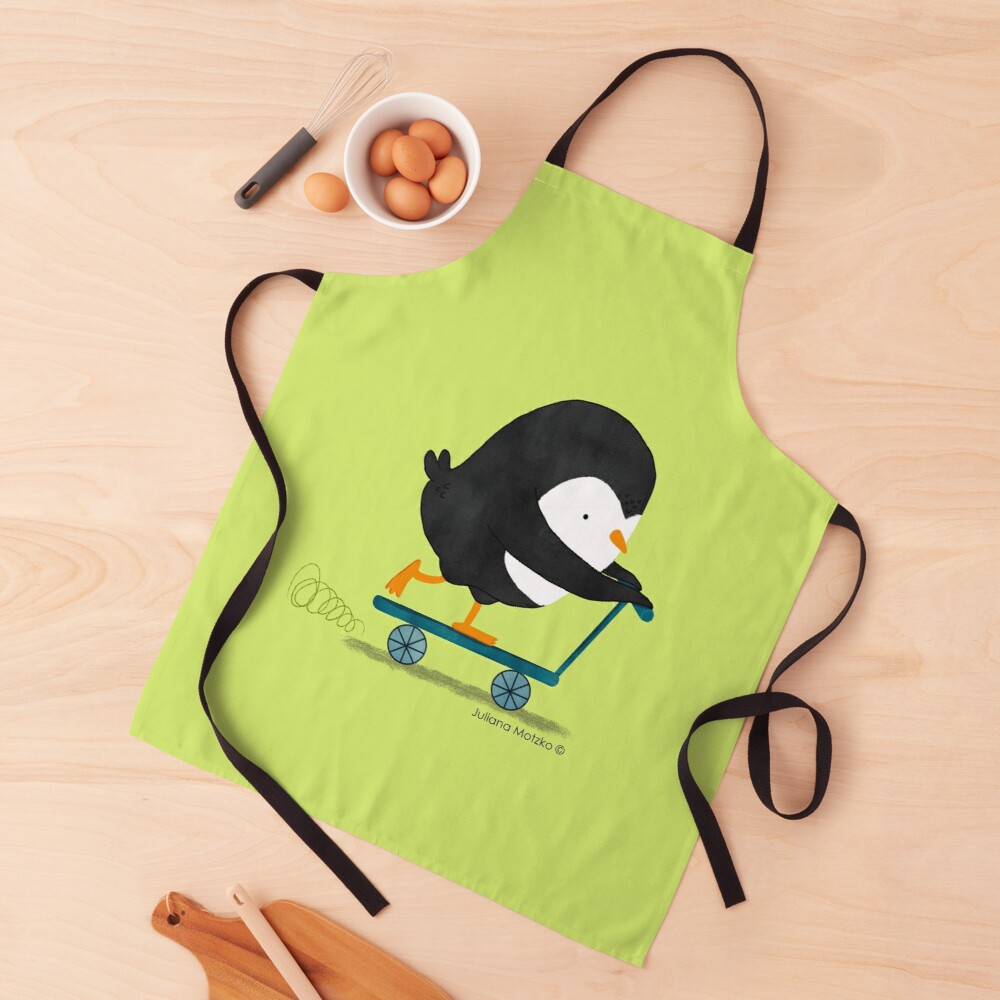 Penguin on Scooter Apron