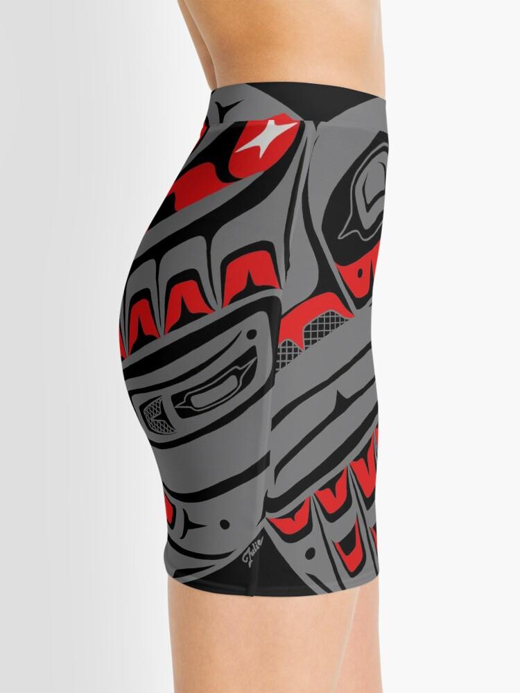 Alternate view of Raven Steals The Sun, Tlingit style, in gray Mini Skirt