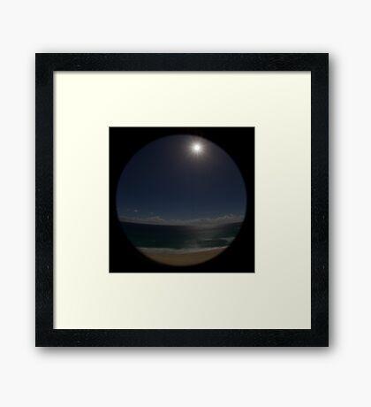 Full Moon Over Surface Paradise | QLD | Australia Framed Print