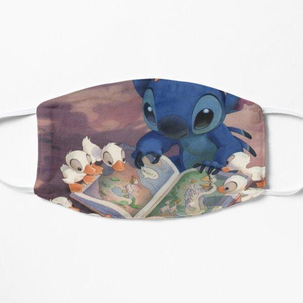 Cute Stitch Reading Flat Mask