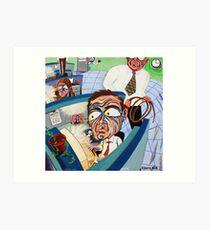 'CUBICLE LIFE  Art Print