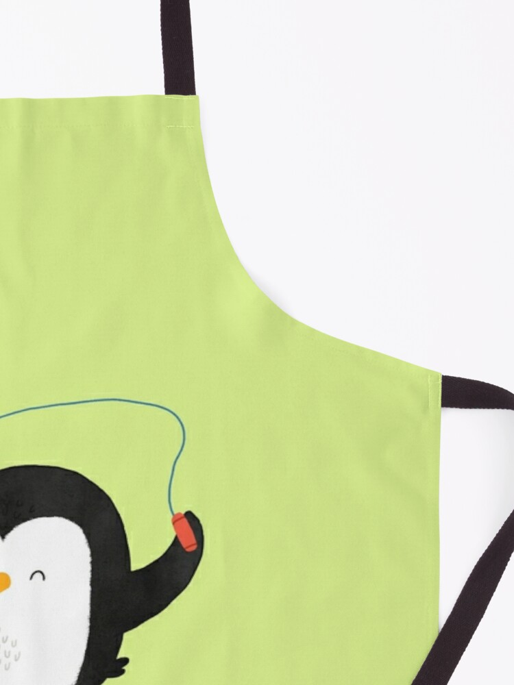 Alternate view of Penguin jumping rope Apron