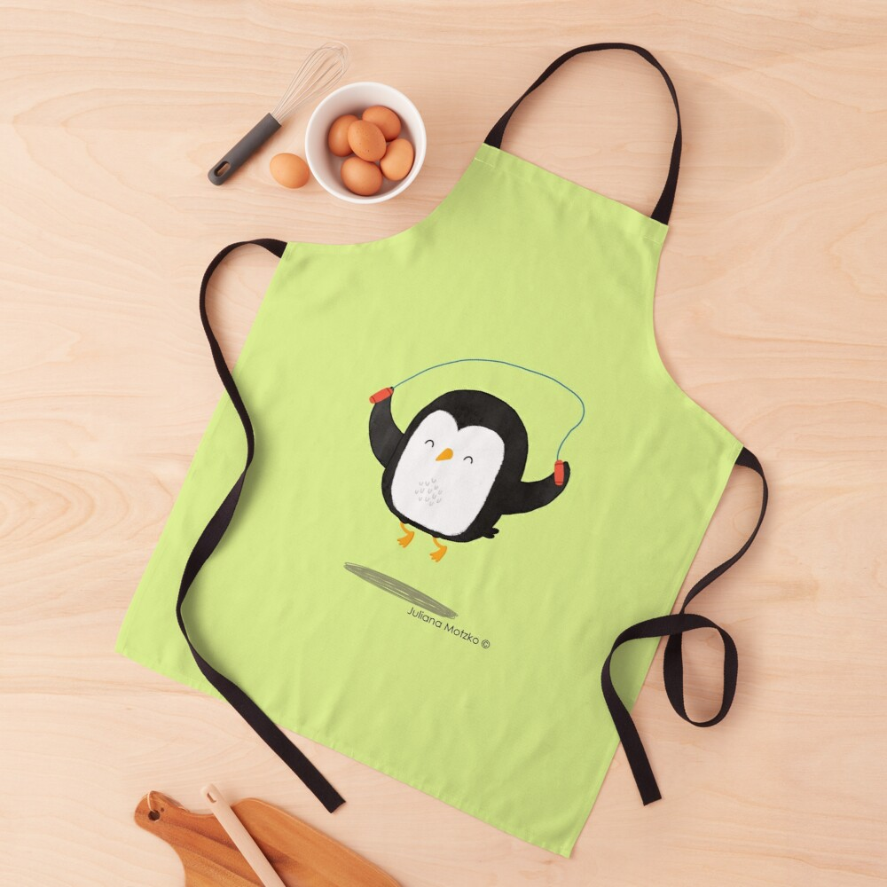 Penguin jumping rope Apron