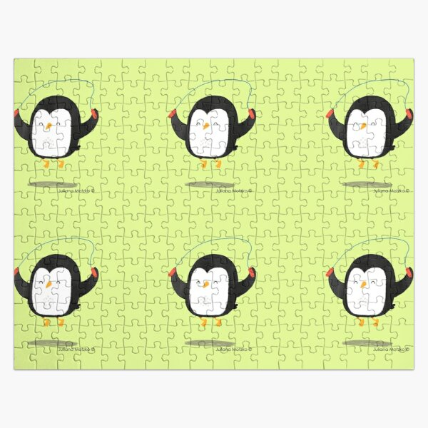 Penguin jumping rope Jigsaw Puzzle