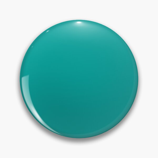 Teal | Teal Green | Solid Color |  Pin