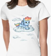 BabyDash Airlines Womens Fitted T-Shirt