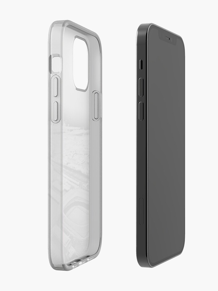 Alternate view of De Kuip Rotterdam Grayscale Point Cloud iPhone Case & Cover