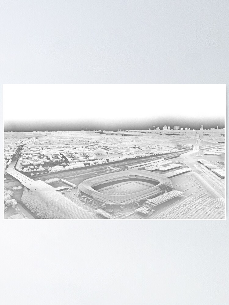 Alternate view of De Kuip Rotterdam Grayscale Point Cloud Poster