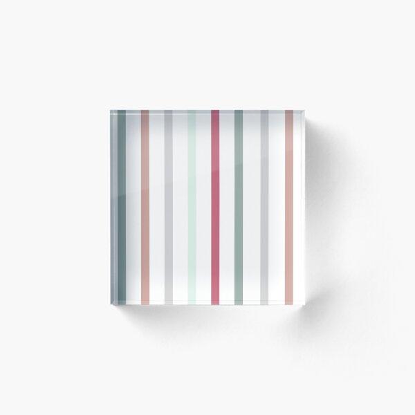 Stripe Pattern  Acrylic Block
