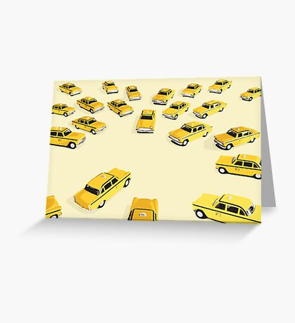 22 Yellow Taxis Greeting Card