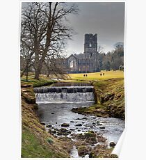 Fountains Abbey, Yorkshire Poster
