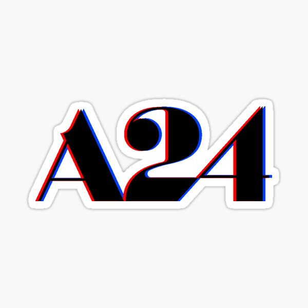 A24 Glitch Logo Sticker