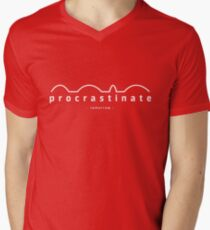 procrastinate - tomorrow - Men's V-Neck T-Shirt