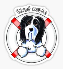 Bearded Collie :: First Mate Sticker