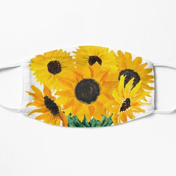 Gemalter Sonnenblumenstrauß Maske