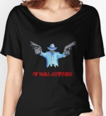 """Raylan Givens, """"It was Justified"""" Red words (like the official screen title) T-Shirts Loose Fit T-Shirt"""