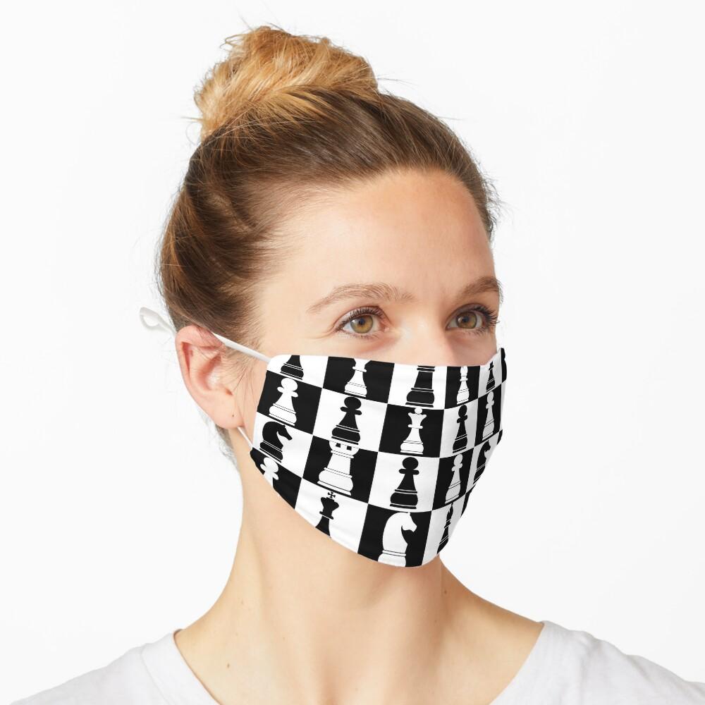 Black and White Chess Board Print Pattern Mask