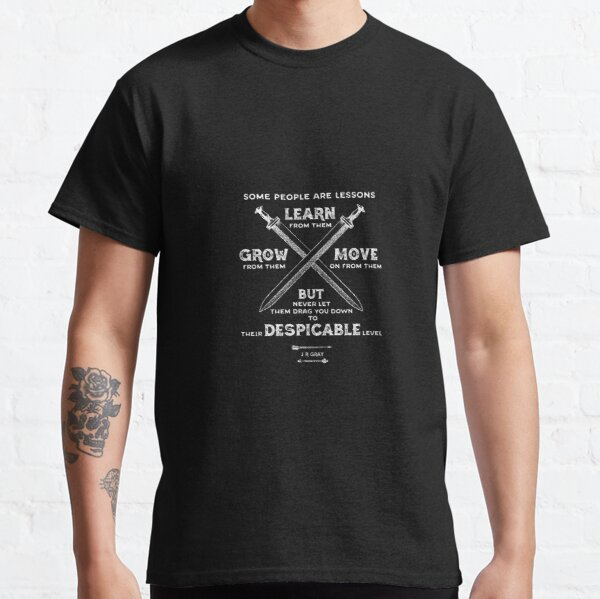 Say Yes Quote Black Shirt Classic T-Shirt